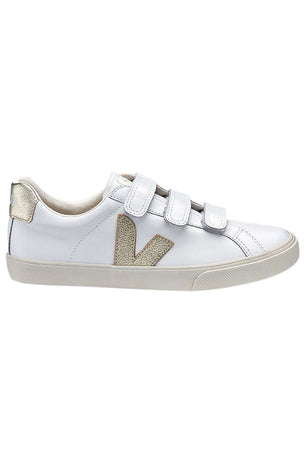 Veja Esplar 3 Locks Leather White/Gold image 1 - The Sports Edit