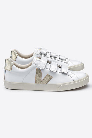 Veja Esplar 3 Locks Leather White/Gold image 2 - The Sports Edit
