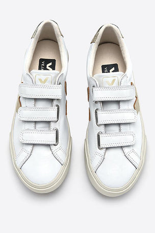 Veja Esplar 3 Locks Leather White/Gold image 4 - The Sports Edit