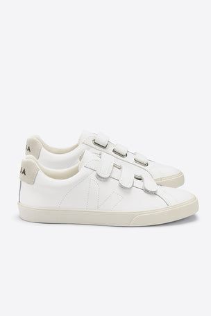 Veja 3-Lock Leather - White | Women's image 4 - The Sports Edit
