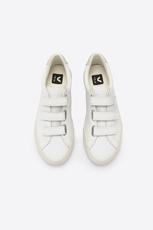 Veja 3-Lock Leather - White | Women's image 2 - The Sports Edit