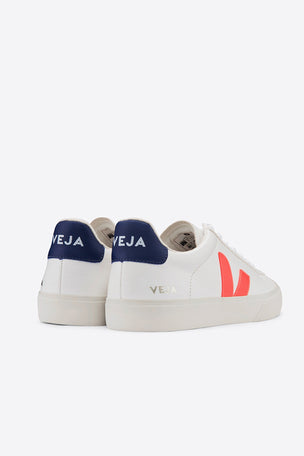 Veja Campo - White/Orange-Fluo/Cobalt | Women's image 4 - The Sports Edit