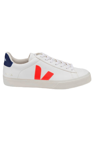 Veja Campo - White/Orange-Fluo/Cobalt | Women's image 1 - The Sports Edit