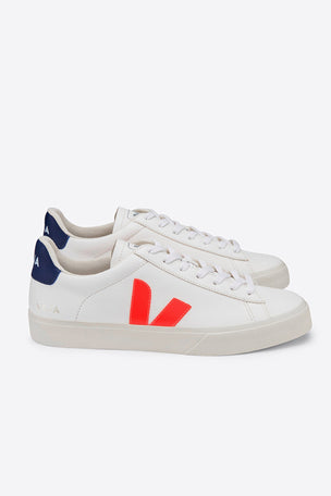 Veja Campo - White/Orange-Fluo/Cobalt | Women's image 3 - The Sports Edit