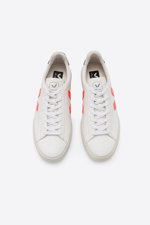 Veja Campo - White/Orange-Fluo/Cobalt | Women's image 2 - The Sports Edit
