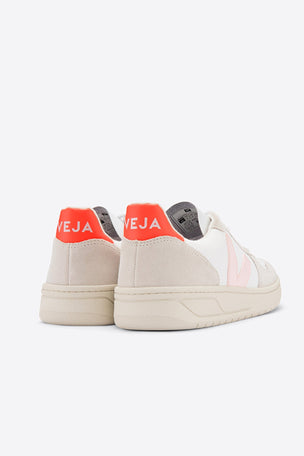 Veja V-10 B-Mesh - White/Petale/Orange | Women's image 4 - The Sports Edit