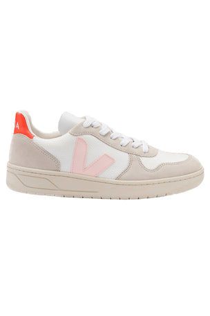 Veja V-10 B-Mesh - White/Petale/Orange | Women's image 1 - The Sports Edit