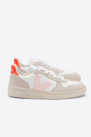 Veja V-10 B-Mesh - White/Petale/Orange | Women's image 3 - The Sports Edit