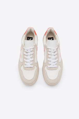 Veja V-10 B-Mesh - White/Petale/Orange | Women's image 2 - The Sports Edit