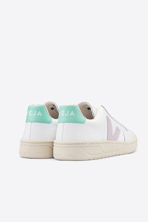 Veja V-12 Leather - Extra White/Parme/Turquoise | Women's image 3 - The Sports Edit