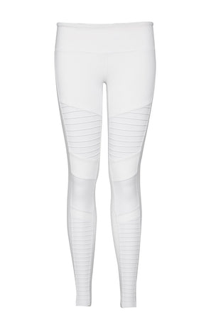 Alo Yoga Moto Legging - White/White Glossy image 5 - The Sports Edit