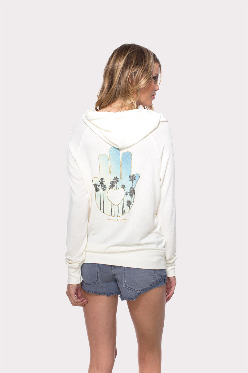Spiritual Gangster Palm Trees Hamsa Hoodie image 1 - The Sports Edit