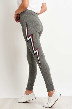 Sundry Lightning Bolt Skinny Sweatpants image 2 - The Sports Edit