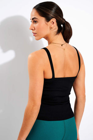 Year of Ours Abby Built-In Bra Tank - Black image 3 - The Sports Edit