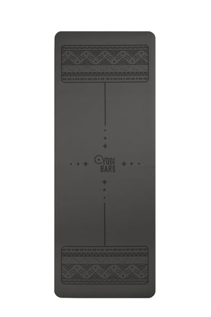 YOGI BARE Paws Natural Rubber Yoga Mat - Grey image 1 - The Sports Edit