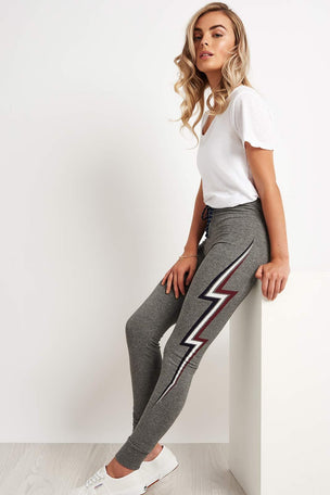 Sundry Lightning Bolt Skinny Sweatpants image 4 - The Sports Edit