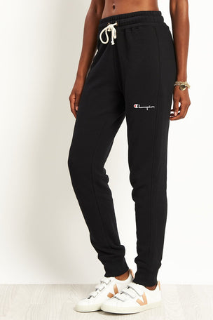 Champion Rib Cuff Pants Black image 1 - The Sports Edit
