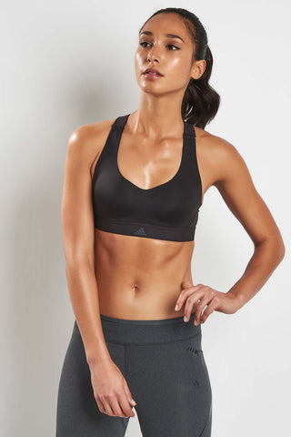 ADIDAS CMMTTD Racer Bra- Black image 1 - The Sports Edit