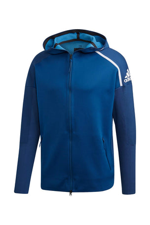 ADIDAS Z.N.E Primeknit Hoodie - Legend Marine image 5 - The Sports Edit