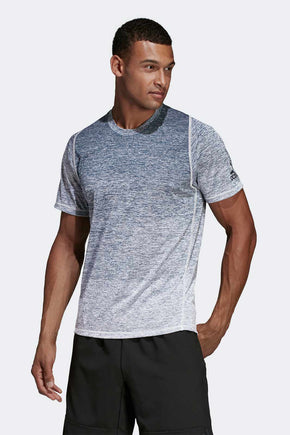 bcaf376044d8ae ADIDAS FreeLift 360 Gradient Graphic Tee - Grey image 1 - The Sports Edit