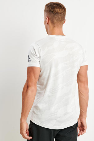 ADIDAS Freelift Tee - Cloud White image 2 - The Sports Edit