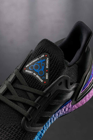 Adidas Ultraboost 20 Shoes - 'Space Race' Black | Men's image 2 - The Sports Edit