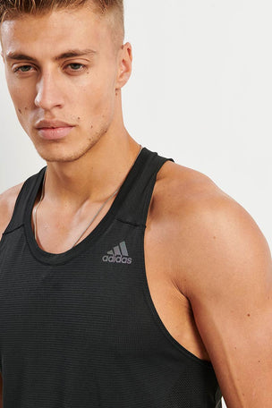 ADIDAS Supernova Singlet - Black image 3 - The Sports Edit