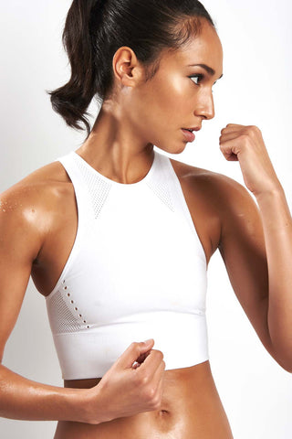 ADIDAS Warp-Knit Crop Top - White image 1 - The Sports Edit