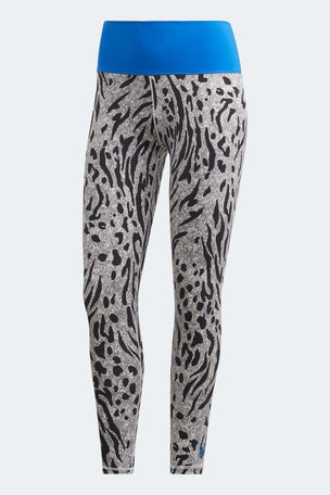 Adidas Believe This 2.0 Iterations High Waisted 7/8 Leggings - Grey Four/Black image 7 - The Sports Edit