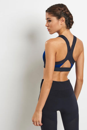 adidas X Stella McCartney The ClimaChill® Bra - Mystery Ink image 3 - The Sports Edit