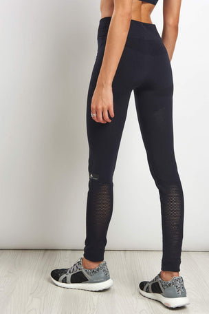 adidas X Stella McCartney Train Warp Knit Tight - Black image 2 - The Sports Edit