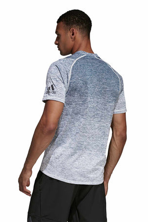 ADIDAS FreeLift 360 Gradient Graphic Tee - Grey image 4 - The Sports Edit