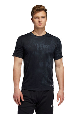 ADIDAS FreeLift Parley T-Shirt - Black image 1 - The Sports Edit
