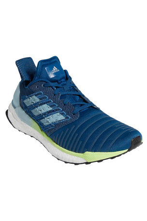 ADIDAS Solar Boost Shoes - Legend Marine/Ash Grey/Yellow image 2 - The Sports Edit
