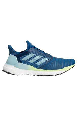 ADIDAS Solar Boost Shoes - Legend Marine/Ash Grey/Yellow image 1 - The Sports Edit