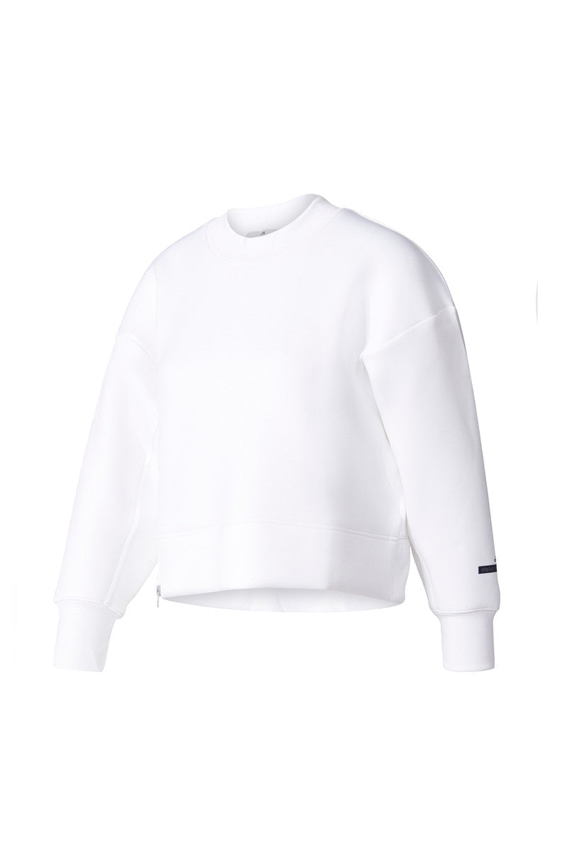 adidas X Stella McCartney Essentials Sweater White image 6 - The Sports Edit