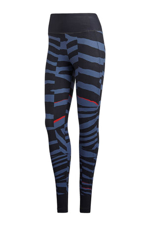 adidas X Stella McCartney Train Miracle Tight Grey/Ink image 4 - The Sports Edit