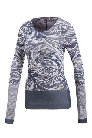 adidas X Stella McCartney Yoga Seamless Long sleeve - Navy image 4 - The Sports Edit