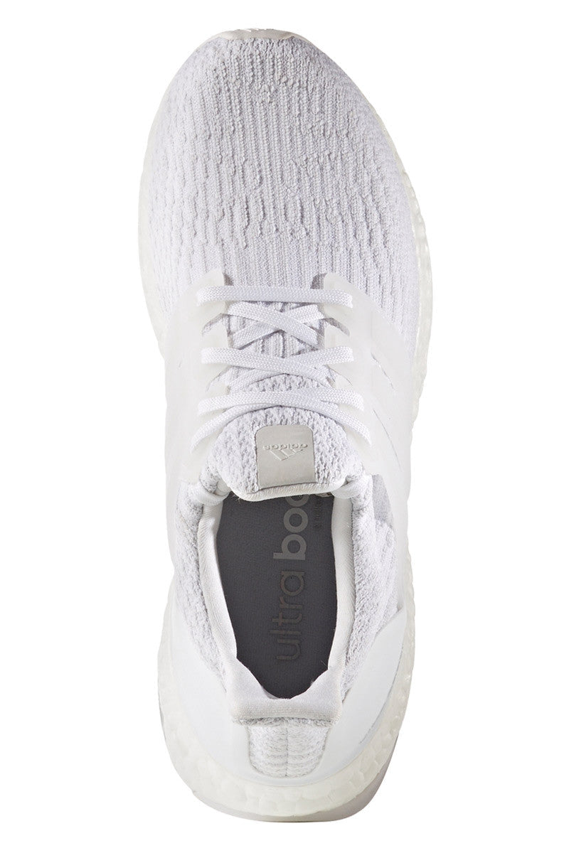ADIDAS Men's Ultra Boost 3.0 'Triple White' image 3 - The Sports Edit