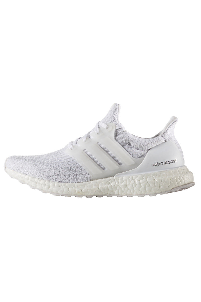 ADIDAS Men's Ultra Boost 3.0 'Triple White' image 4 - The Sports Edit