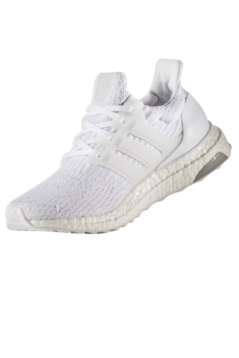 ADIDAS Men's Ultra Boost 3.0 'Triple White' image 2 - The Sports Edit