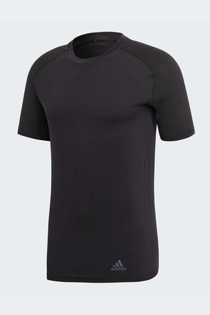 ADIDAS Ultra PrimeKnit Light Tee - Black/Carbon image 4 - The Sports Edit