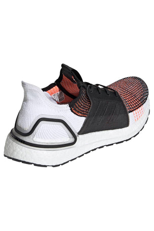 ADIDAS Ultra Boost 19 Shoes - Black/White/Orange | Men's image 3 - The Sports Edit