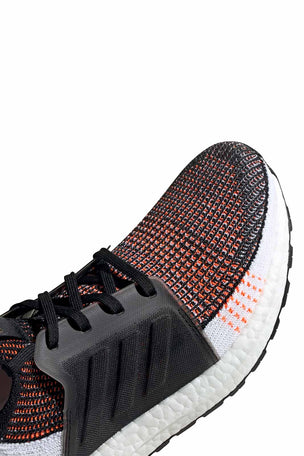 ADIDAS Ultra Boost 19 Shoes - Black/White/Orange | Men's image 4 - The Sports Edit
