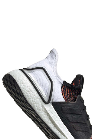 ADIDAS Ultra Boost 19 Shoes - Black/White/Orange | Men's image 5 - The Sports Edit