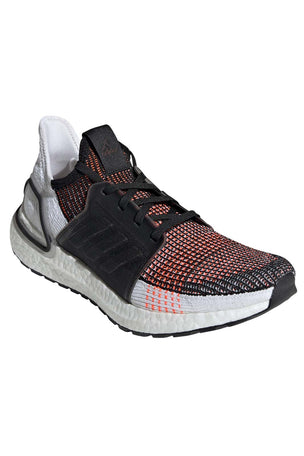 ADIDAS Ultra Boost 19 Shoes - Black/White/Orange | Men's image 6 - The Sports Edit
