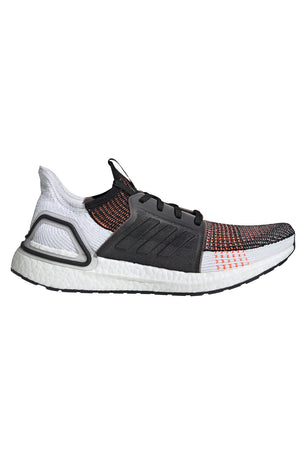 ADIDAS Ultra Boost 19 Shoes - Black/White/Orange | Men's image 1 - The Sports Edit