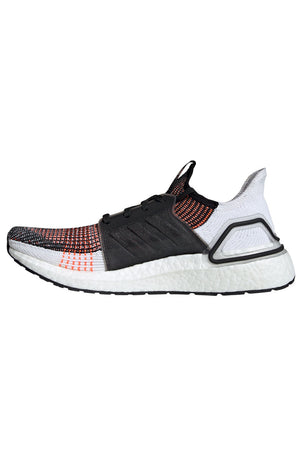ADIDAS Ultra Boost 19 Shoes - Black/White/Orange | Men's image 2 - The Sports Edit