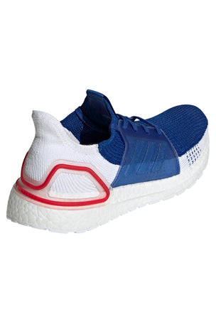 ADIDAS Ultra Boost 19 Shoes - White/Blue/Red | Men's image 4 - The Sports Edit