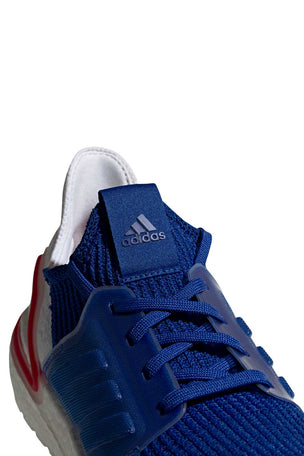 ADIDAS Ultra Boost 19 Shoes - White/Blue/Red | Men's image 6 - The Sports Edit